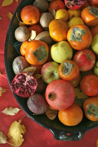 Platter of Fall Fruit (photo by Laurie Smith)